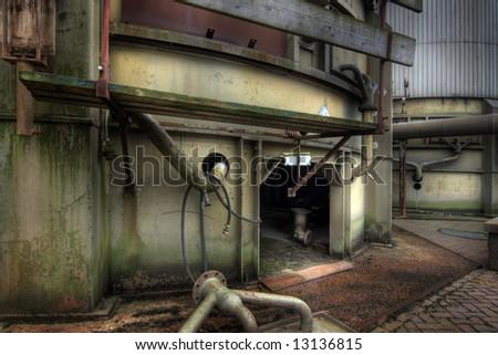 Abandoned Factory - stock photo