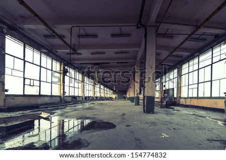 Abandoned factory - stock photo