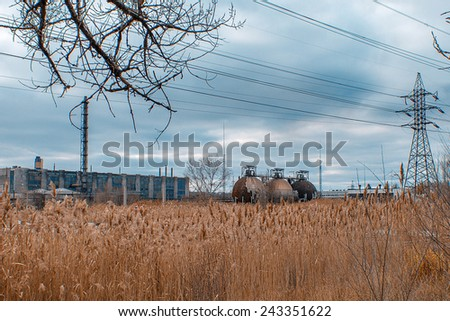 Abandoned factory shop - stock photo