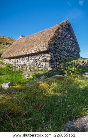 Abandoned Famine Cottage - stock photo