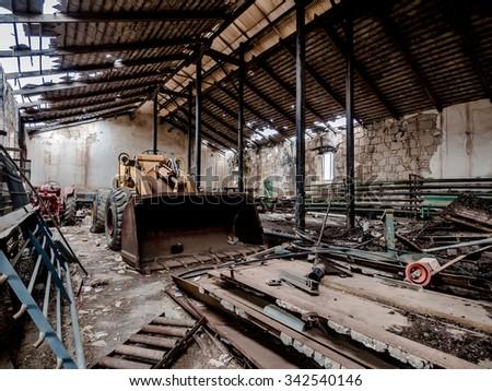 Longwall Mining Shearer Two Rotating Cutting Stock Photo