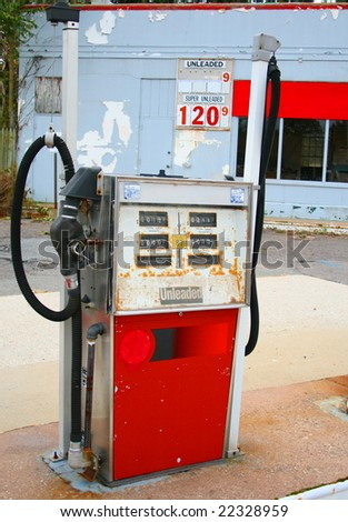 Abandoned Gas Station ($1.20 per gallon) - stock photo