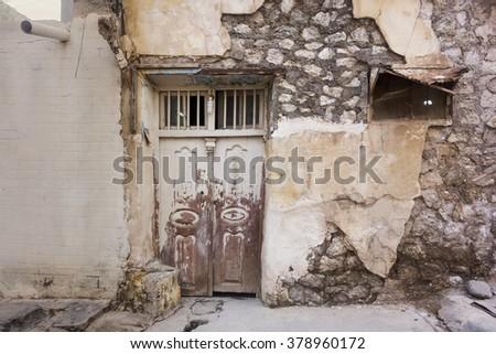 Abandoned house in Iraqi kurdistan region - stock photo