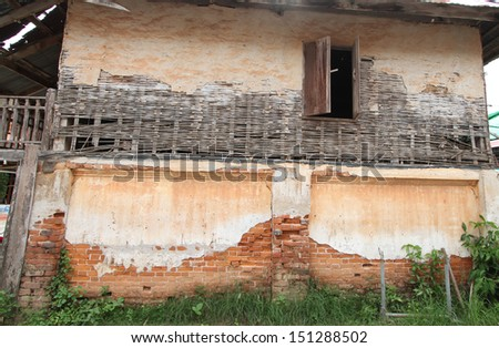 Abandoned house in old city of thailand - stock photo