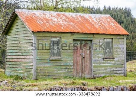 Abandoned hut - stock photo