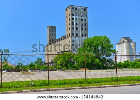 Abandoned industrial buildings in Buffalo, NY, USA - stock photo