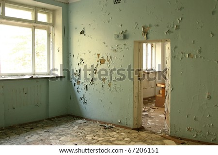 abandoned interior - stock photo