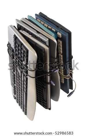 abandoned keyboard - stock photo