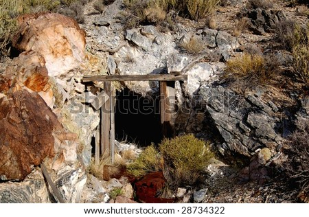 Abandoned mine shaft in the Mojave National Preservation.