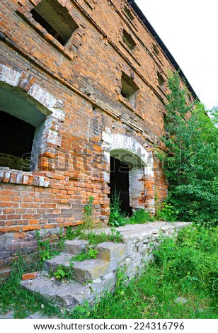 abandoned old building - stock photo