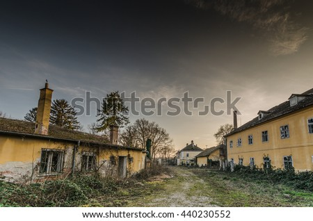 abandoned old village in the nature