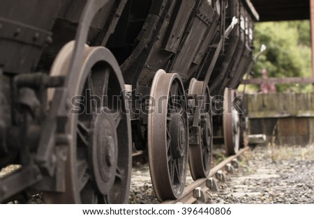 Abandoned Rail Cart at Disused Rail Yard