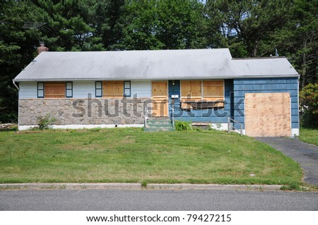 Abandoned Residential Home Foreclosure - stock photo