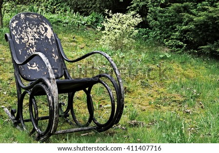 Abandoned rocking chair
