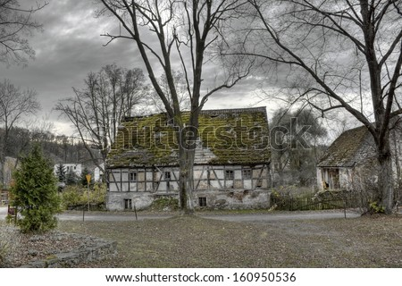 Abandoned Timbered House