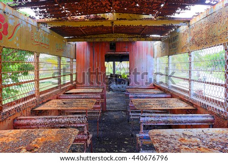 Abandoned train wagon, Cuba.