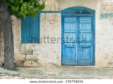 abandoned village house in Cyprus - stock photo