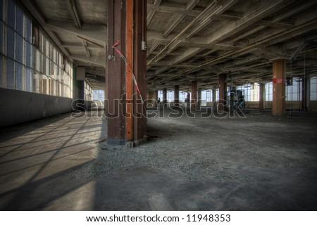 Abandoned Warehouse - stock photo
