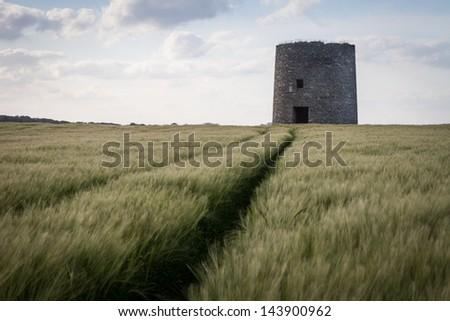 Abandoned Windmill - stock photo