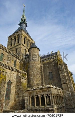 Abbey at Mont St Michel - stock photo