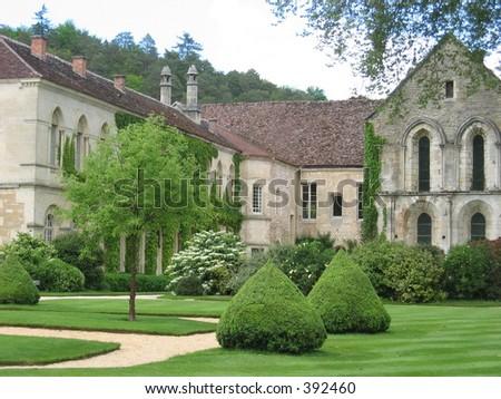 Abbey de Fontenay, France. - stock photo
