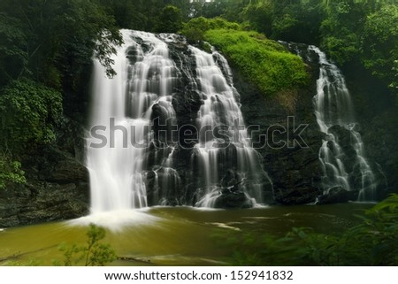 Abbey falls in the coorg region of KArnataka India - stock photo
