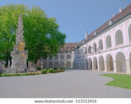 Abbey of Heiligenkreuz in Lower Austria - stock photo