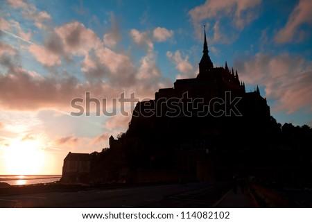 abbey of Mont Saint-Michel. France - stock photo