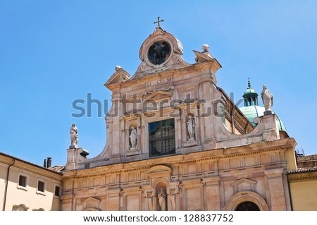 Abbey of St. Giovanni Evangelista. Parma. Emilia-Romagna. Italy. - stock photo