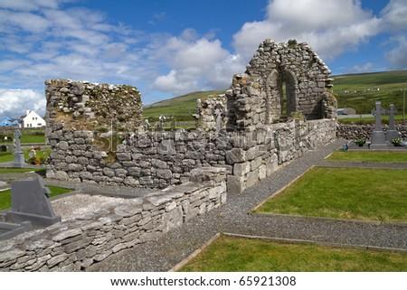 Abbey ruins in Ireland - stock photo