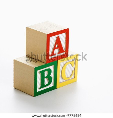 ABC alphabet blocks stacked together. - stock photo
