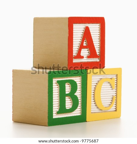 ABC alphabet blocks stacked together. - stock photo