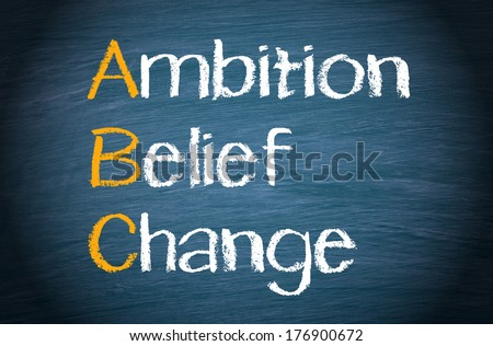 ABC - Ambition Belief Change - stock photo