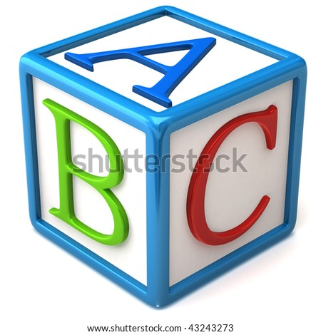 abc block - stock photo