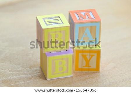 ABC Blocks/Wooden alphabet blocks - stock photo