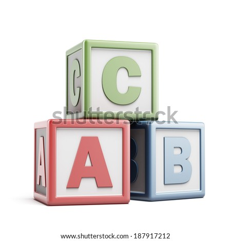 ABC building blocks - stock photo