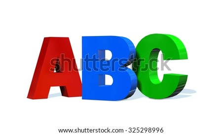 ABC - 3D letters isolated on white background