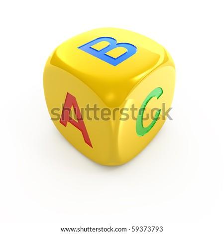 ABC dice - stock photo