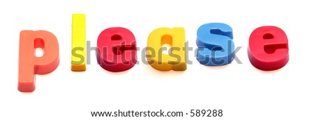 ABC fridge magnets spell please - stock photo