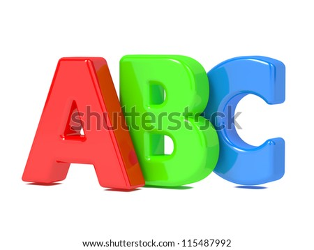 ABC Letters - Image Isolated on White. - stock photo
