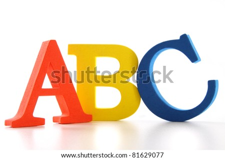 ABC letters on white background - stock photo