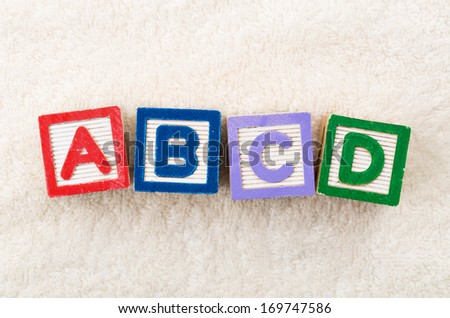 ABCD toy block - stock photo