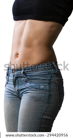 Abdominal Muscle, Female, Body Building.
