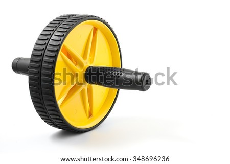 abdominal wheel of fitness on a white background