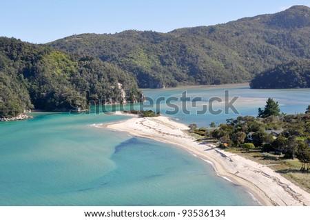 Abel Tasman National Park in New Zealand - stock photo