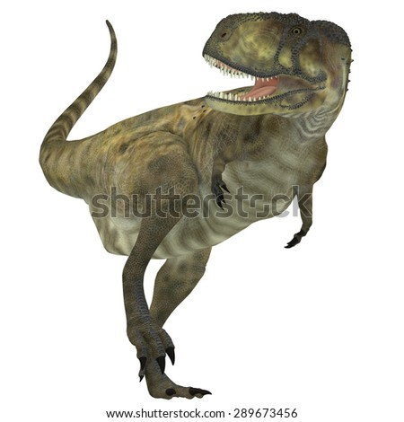 Abelisaurus Predator - Abelisaurus was a carnivorous theropod dinosaur that lived in the Cretaceous Period of Argentina. - stock photo