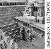 Abhaneri Step Well, Jaipur - stock photo