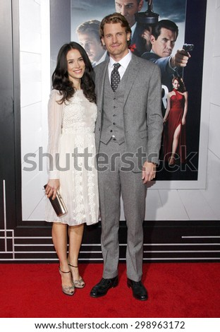 Abigail Spencer and Josh Pence at the Los Angeles premiere of 'Gangster Squad' held at the Grauman's Chinese Theatre in Hollywood on January 7, 2013.  - stock photo