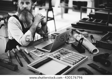 Ability Activity Career Carpenter Occupation Skill Concept - stock photo
