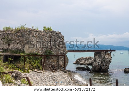 Abkhazia, Sukhum-July 27, 2014: Sukhum embankment